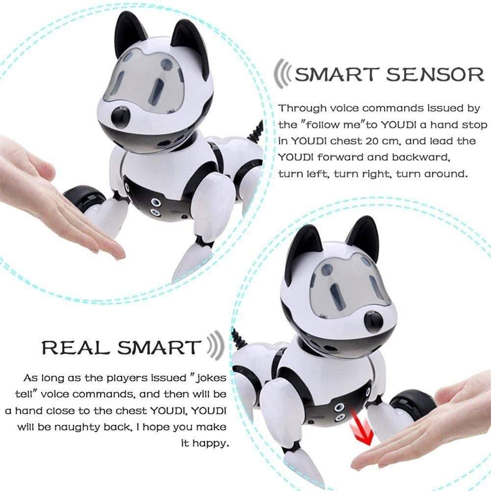 Youdi contrôle vocal Chien et Chat Intelligent Robot animal de compagnie électronique Interactif Programme Danse Marche Robotique jouet animal Geste Suivants - 3