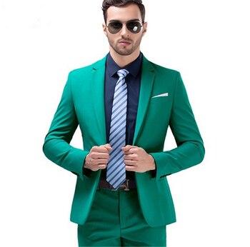 Custom Made Slim Fit Groom Tuxedos Dark Turquoise Groomsmen Notch Lapel Men Wedding Suits Best Mens Suit (jacket+pants) B623
