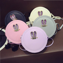 Women s font b Clutches b font circular crossbody bags women pu leather handbags Shoulder small