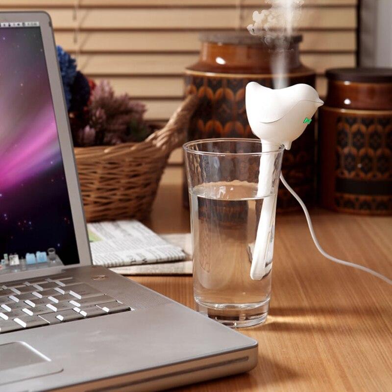 RECESKY USB love bird mini desktop humidifier creative bird portable ultrasound home gifts for OFFICE Chirstmas Gift