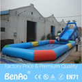 0.6-0.9mm pvc inflatable water games slide water inflatable with pool for sale W007