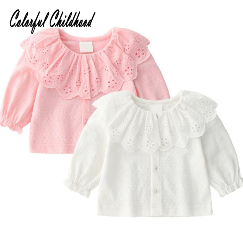 Adorable baby girls shirt autumn ruffles lace long sleeve blouse for kids shirt toddler baby tops children outfits