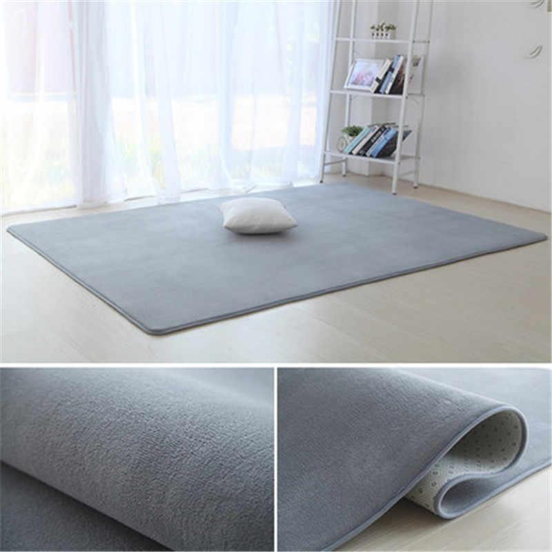 두꺼운 산호 벨벳 일반 카펫 미끄럼 방지 깔개 거실 패드 커피 테이블 담요 침실 쿠션 침대 옆 요가 매트