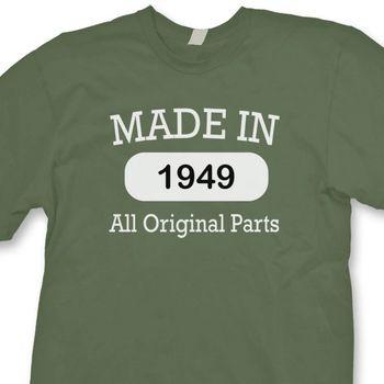 Feliz Regalo Nueva T Manga En Todas Camisa Piezas Hombre Camiseta Cumpleaños Hecha De Originales Corta Las Divertido 2019 1949 bgf6yY7