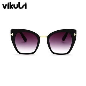 Солнцезащитные очки кошачий глаз женские, винтажные, большие, с градиентными точками