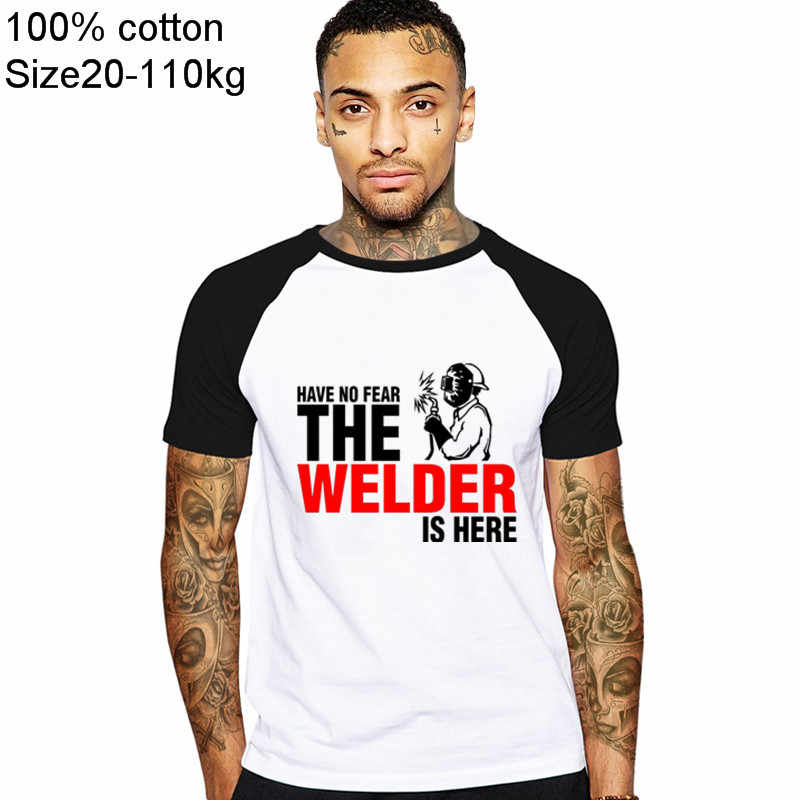 Электросварочная рабочая одежда не боятся сварщика здесь на заказ забавная Футболка Мужская хлопковая футболка с короткими рукавами футболки