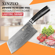 Well NEW !!! damascus knife professional cleaver chopper kitchen stainless steel metal brank  Damascus Japanese  free shipping