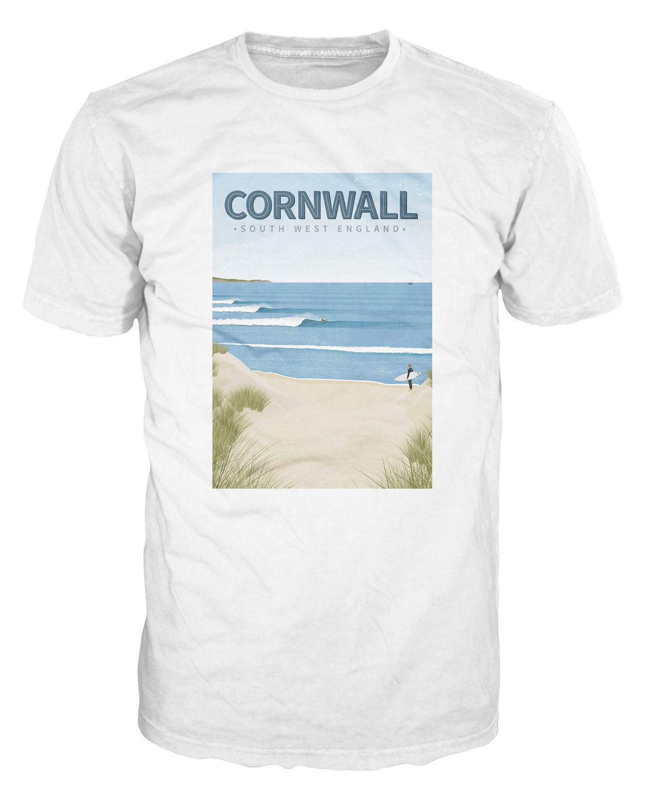 Cornwall Surfinged Southwest Beach Surfed UK England Short Sleeve Basic Tops top tee