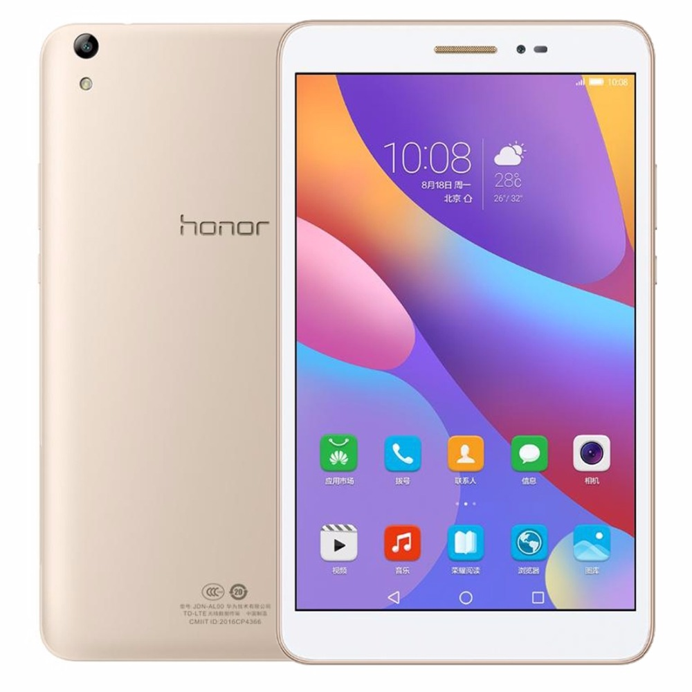 Original 8 Huawei Honor Tablet 2 JDN-AL00 3GB 32GB EMUI4.0 (Android 6.0) Qualcomm Snapdragon 616 Octa Core 4G Phone Call Tablet