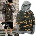 Autumn Street Wear Fashion Army Military Camouflage Hoodie Men Women Good Quality Hip Hop Fake Two Piece Patchwork Sweatshirts