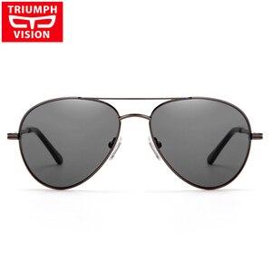 Image 2 - Triumph vision 처방 안경 남성 파일럿 광학 안경 처방 선글라스 근시 oculos homme gafas brillen