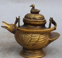 song voge gem S0050 6 Marked Chinese Tea Wine Pot Auspicious Animal Duck Tea flagon Sculpture