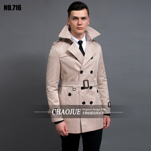 8fd0940e1a8 S-6XL Plus Size Double Breasted Black Trench Coat Men Slim Fit Beige Spring  Jackets