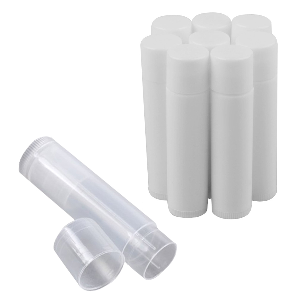 50pcs Transparent/White Clear Empty DIY Lip Balm Tubes Containers High Quality HJL2017