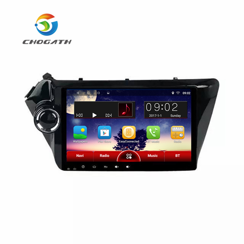 ChoGath Quad Core 9 Android 8.0 car dvd player gps navigation for Kia k2 RIO 3 4 2010 2011 2012 2013 2014 2015 stereo