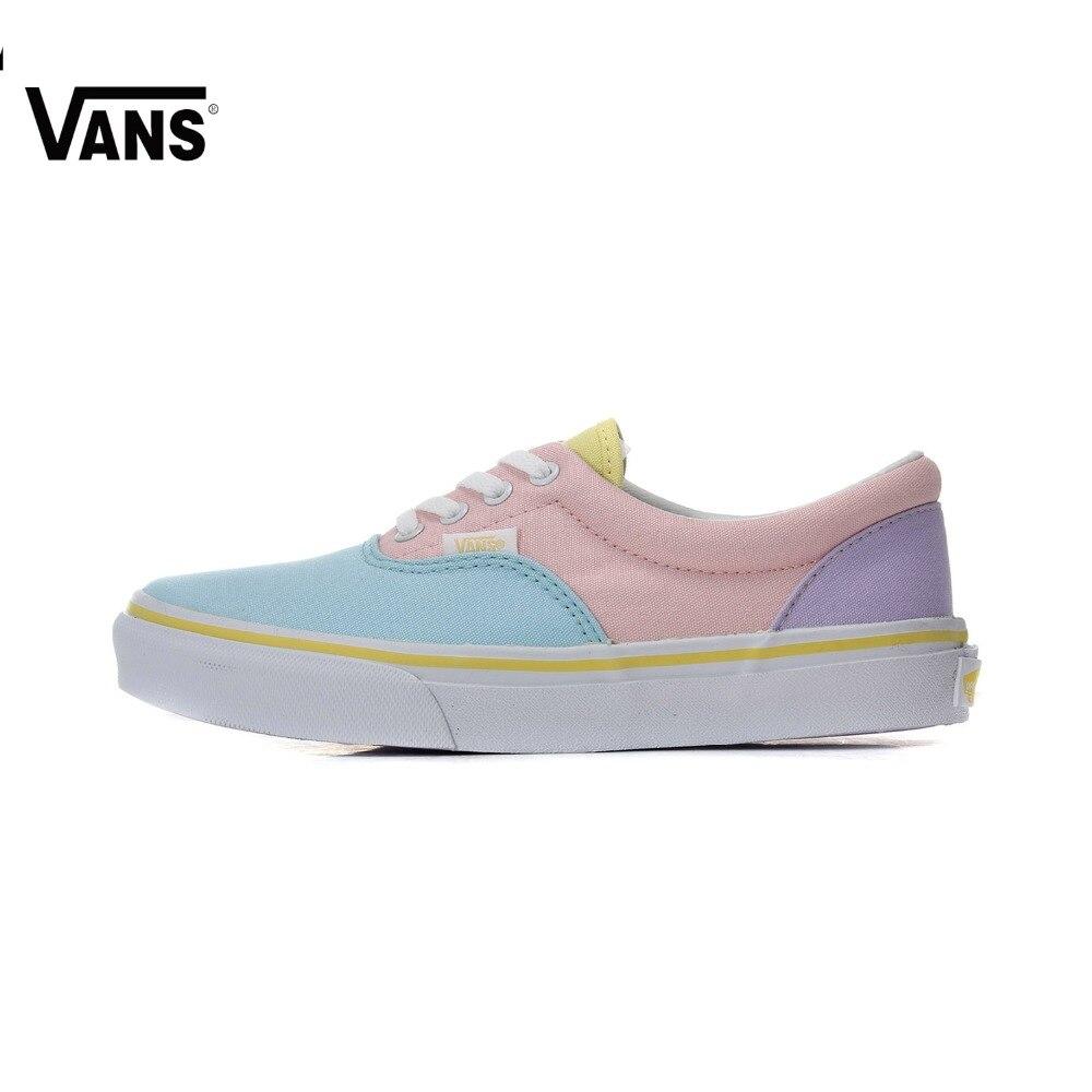 все цены на Vans Shoes Vintage Candy Color Low-Top Skateboarding Shoes Lace-up Sports Women Shoes Canvas Shoes Authentic Original Sneakers