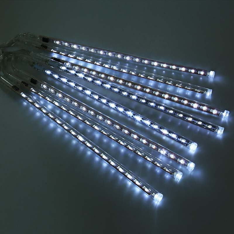 8pcsset 20cm meteor tube meteor shower rain string ac100240v led christmas lights