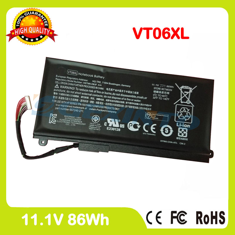 laptop VT06XL battery For HP HSTNN-DB3F HSTNN-IB3F TPN-I103 VT06 VT06086XL 657240-271 657503-001 657240-151 657240-171 laptop built in battery tr03xl for hp split x2 13 g110dx split x2 13 series tr03xl hstnn db5g hstnn ib5g hq tre 723922 171 72392