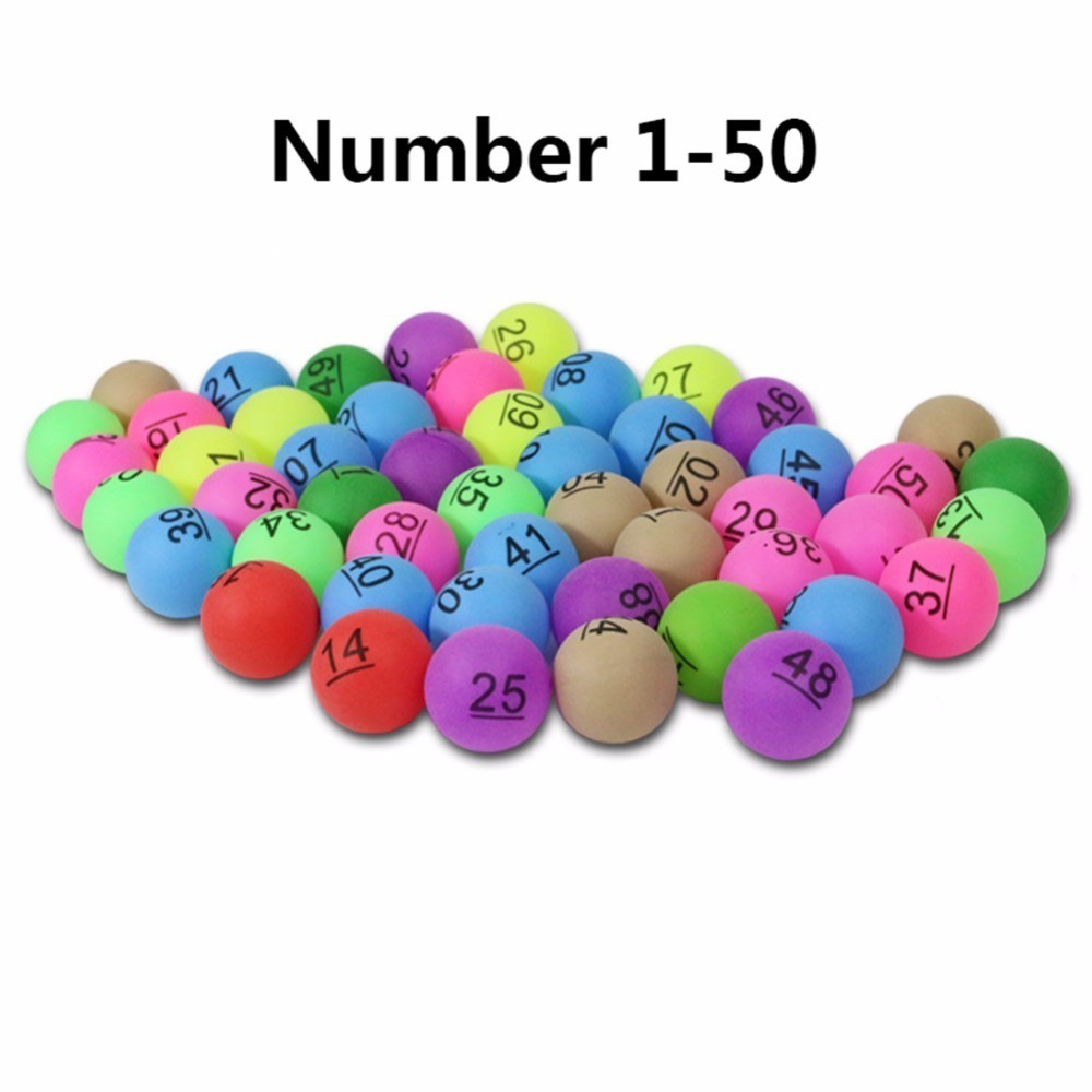 New 50Pcs/Pack Colorful Entertainment Ping Pong Balls with Number Table Tennis Ball for Lottery Game Advertisement 2.4g