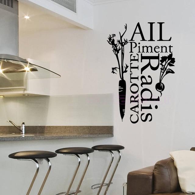 Aufkleber Französisch Küche Alle Piment Vinyl Wandtattoos abnehmbare ...