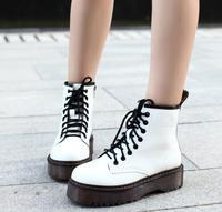 Модные женские ботинки Jason martins; сезон осень-зима; мотоциклетные ботильоны на платформе; женские ботинки; обувь из искусственной кожи черног...