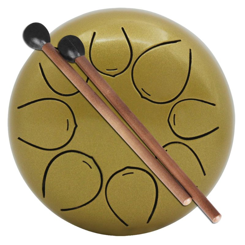 mini steel tongue drum with mallet bag 5 inch 8 tone for meditation yoga zen accessory in parts. Black Bedroom Furniture Sets. Home Design Ideas
