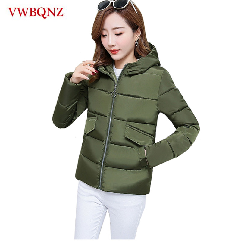 New Winter Down cotton Hooded Women Jacket Short Coat Casual Top Plus size 3XL Loose   Parkas   Warm Outerwear Student Clothin