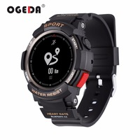 OGEDA F6 Smart Men Watch Sports Smartwatch Watch Men IP68 Sleep Monitor Remote Camera Wearable Devices for iOS Android New 2018
