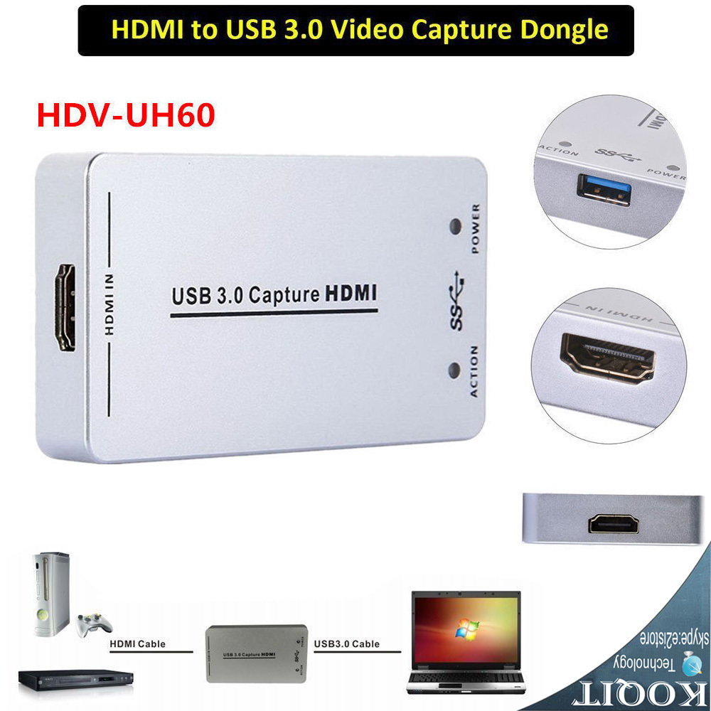 Портативный карты захвата Full HD 1080p Малый HDMI устройства захвата USB 3,0 видео и аудио потока захвата ключа устройства адаптер