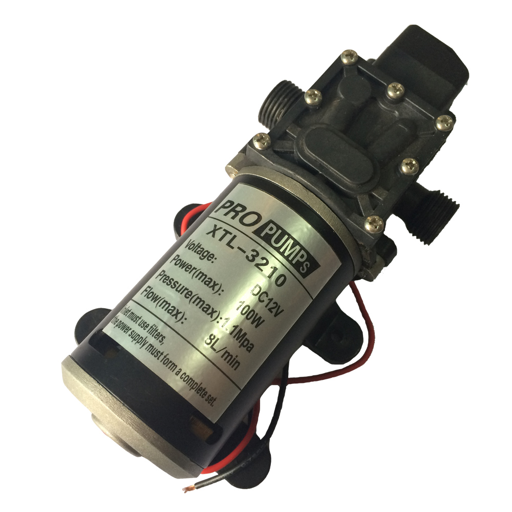 High pressure water pump Micro electric diaphragm pump 3210YD 12V 100W High pressure Large flow Self-Priming pump 1.1MPa popular sale 30w small diaphragm return valve type 12v high pressure water pump