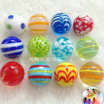 US $27 5 |Free shipping 12pcs/lot 20mm Children glass marble unique  handmade glass ball marbles mixed design-in Figurines & Miniatures from  Home &