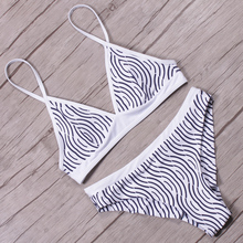 KayVis Women Bikini Plaid Sexy Retro High Neck Swimsuit for Girls  Solid Vintage Female Swimwear  Bathing Suits Shell Bikini Set