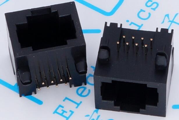 RJ45 56 Without Light Plastic Plug Socket 8-pin RJ45 Network Cable Interface All Plastic
