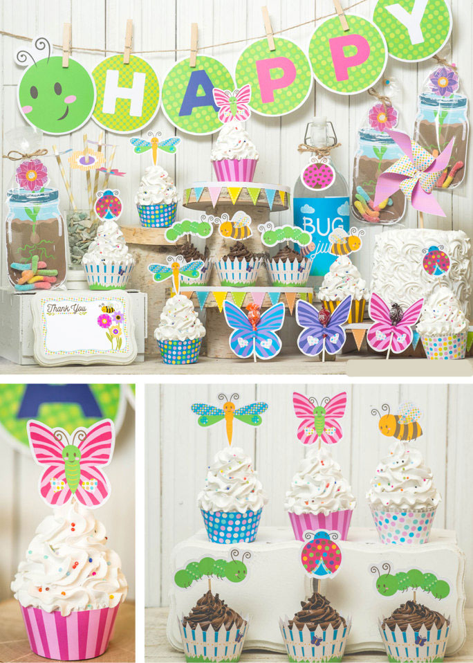 12 toppers per pack Butterfly party decor Butterfly cupcake toppers Spring party theme Baby shower first birthday decor.