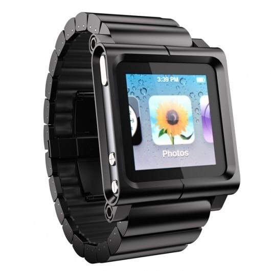 Black - Multi-Touch Watch Band for iPod nano 6th Generation(Watch Wrist Strap)