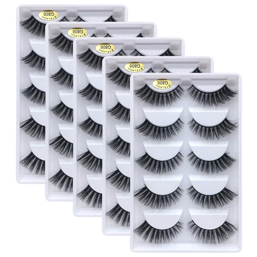 6d3928c40ff 25 pairs 3D Mink lashes Wholesale Natural False Eyelashes 3D Mink Eyelashes  Soft makeup Extension cilios g806 free shipping