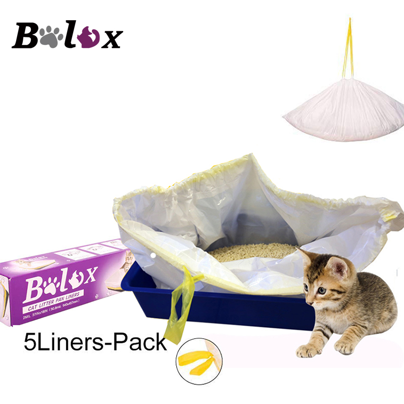 Cat Litter Box Liners with Drawstring Bag Heavy Duty Jumbo Super Strong poop bag Cat Kitten Hygienic cat litter mat Pet Supplies