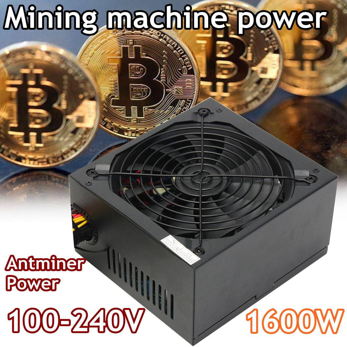 1600W Modular Power Supply For 6 GPU Eth Rig Ethereum Coin Mining Miner Machines High Quality Computer power Supply For BTC цена 2017