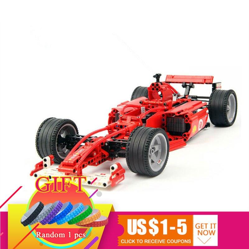 3334 726 pièces Technique Série Coureurs F1 Racer 1:10 ensemble de voiture Bâtiment Modèle Enfants Mini Bloc Compatible 3334 Jouets lepin