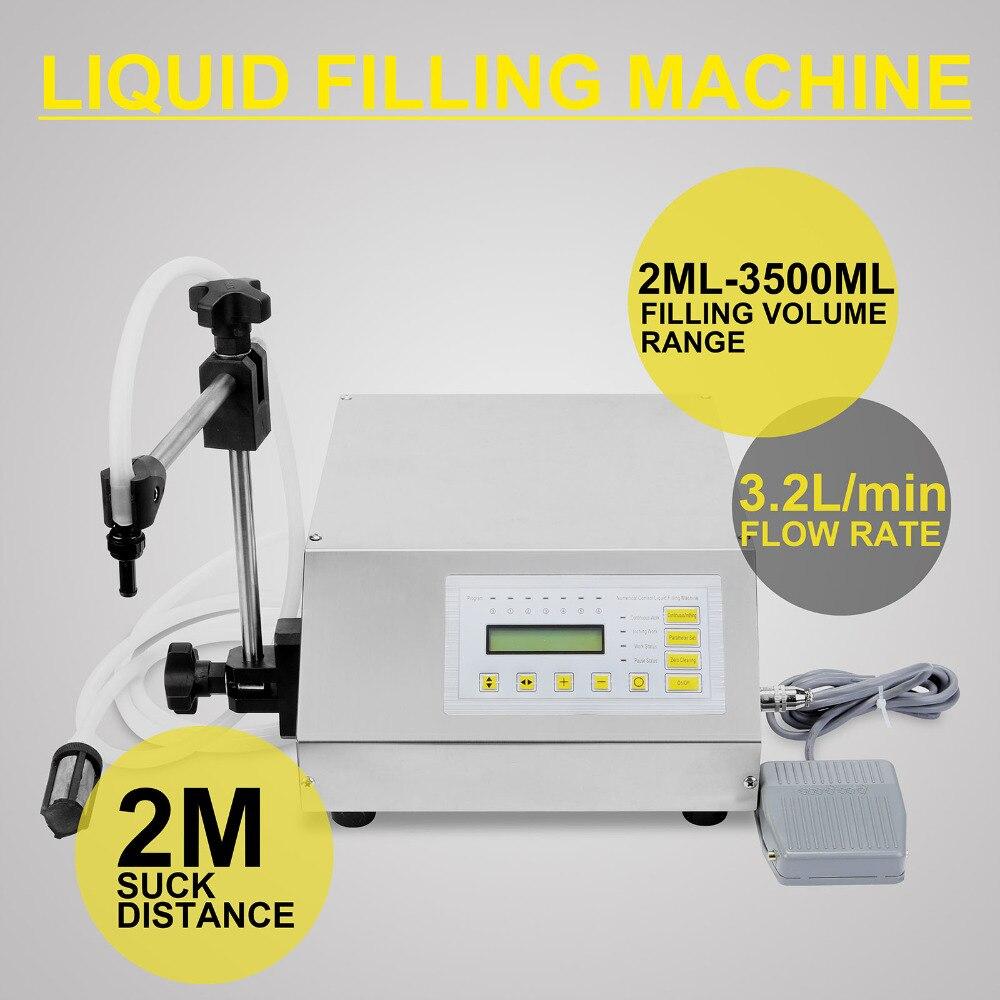 VEVOR Updated Model GFK-160 2ML-3500ML Digital Control Pump Liquid Filling Machine 110/220V