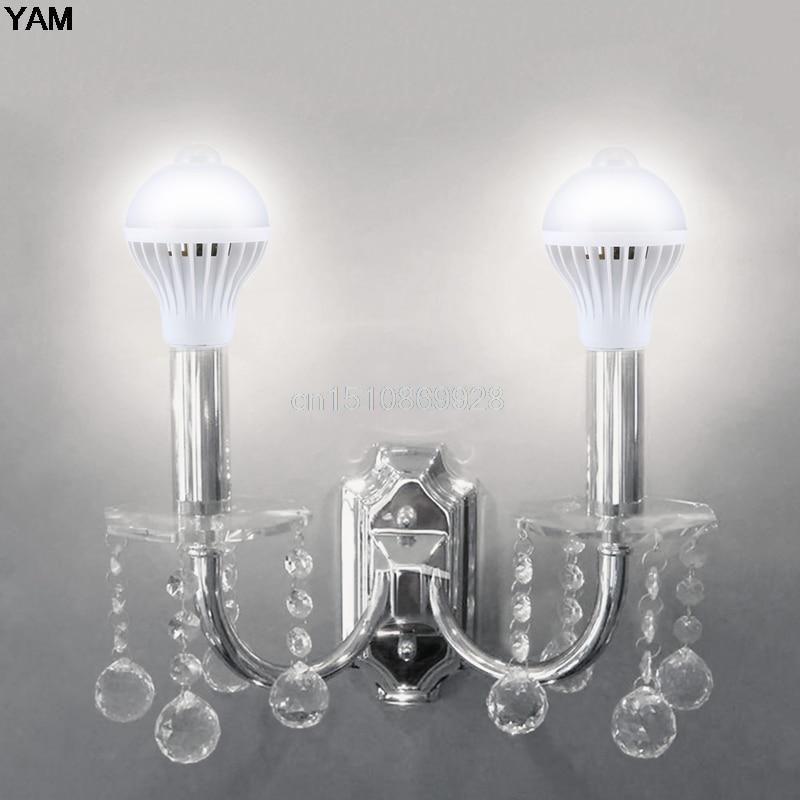 Emergency Lights E27 5w/7w/9w Led Pir Motion Sensor Auto Energy Saving Light Lamp Bulb Infrared