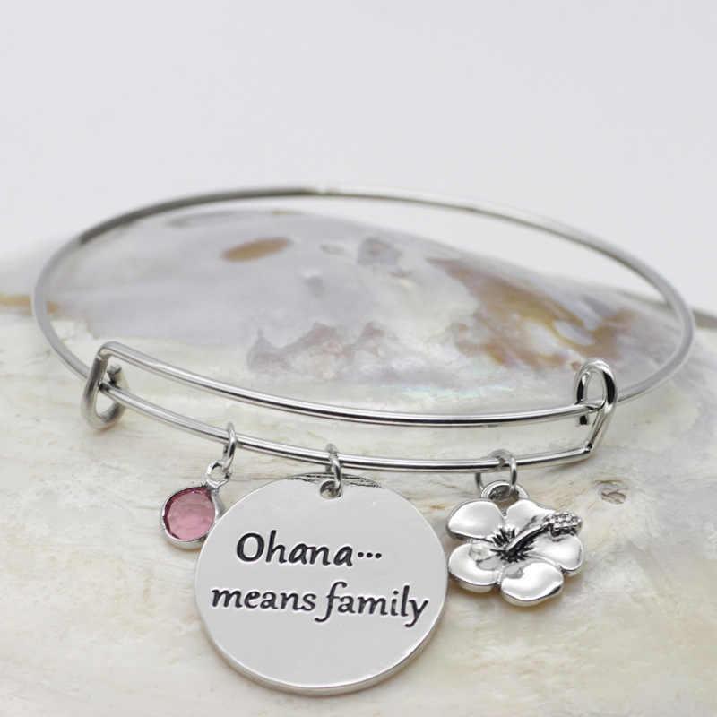 bracelet,family,ohana,personalised,silver