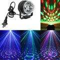Sound-activated 3w Mini RGB LED Crystal Magic Ball Stage Effect Lighting laser Lamp Party Disco Club DJ Bar Light EU/US Plug