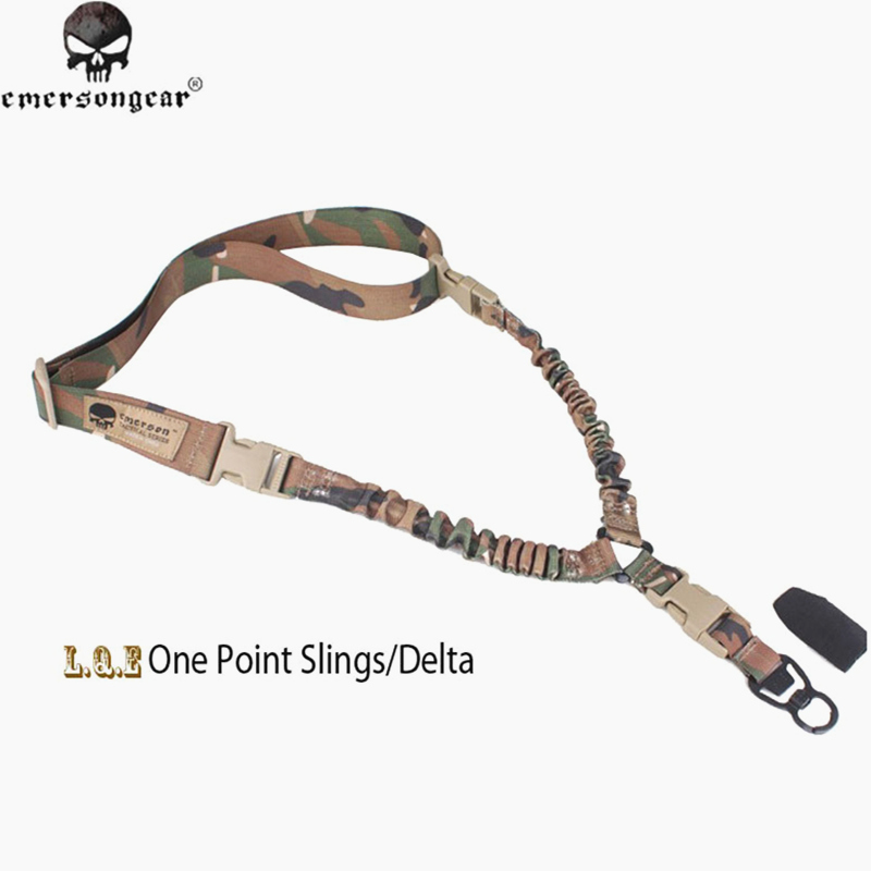 Emersongear LQE Gun Bungee Sling con MASH One Point Sling/Delta caza ejército Airsoft Tactical Accesorios