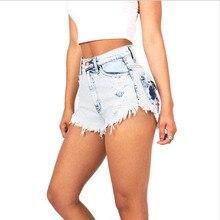 NiceMix 2019 Summer Vintage Jeans shorts Tassel Ripped Loose High Waisted Shorts Women Punk Sexy Short Demin Feminino