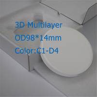 1 Piece OD98*14mm C1 D4 7 Color Dental Zirconia Block 3D Multilayer Gradient Zirconia Materials for Lava System