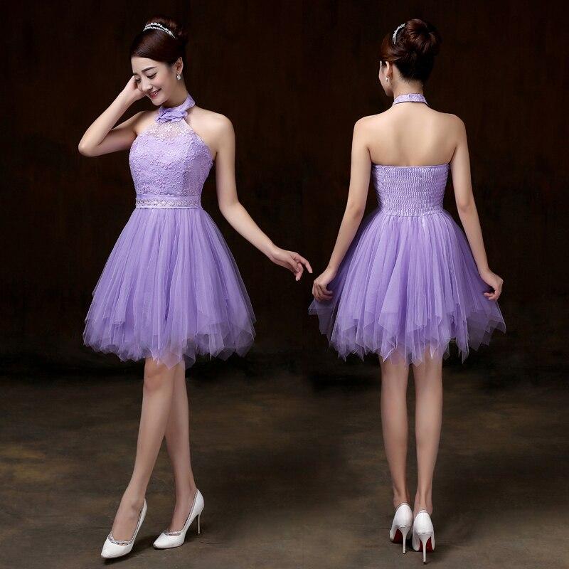 Sweet Memory 2018 Violet double shoulders Bridesma...