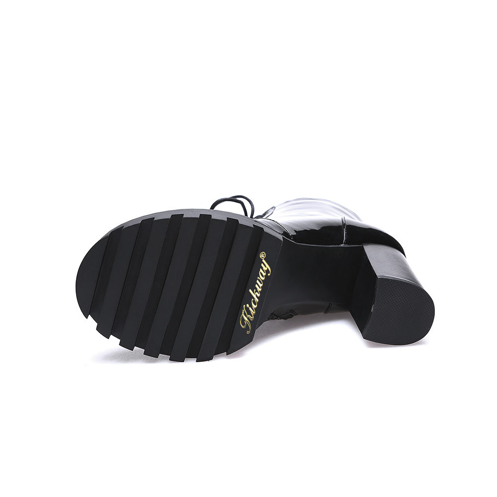 Motocicleta Fur Botas Moda Caliente 41 Zapatos Leather 35 De Venta black Martins Calidad Superior Estilos Black Pu Marten Kickway Mujeres Invierno Cuero Genuino La A4qPgO