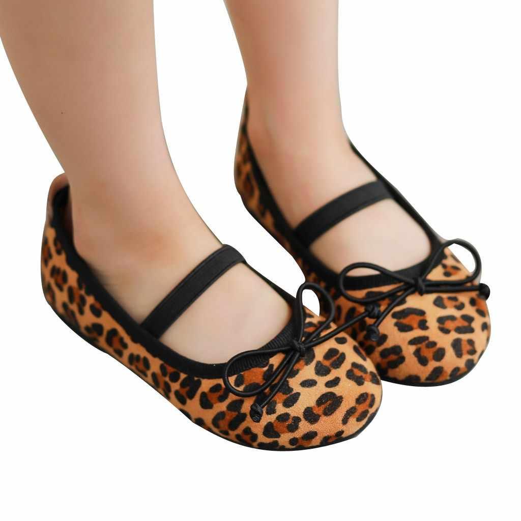 סתיו ילדים של בנות נעלי נסיכת הדפס מנומר נעלי אפונה מזדמן גומייה נעלי בנות סניקרס Zapatos דה נינה מליסה