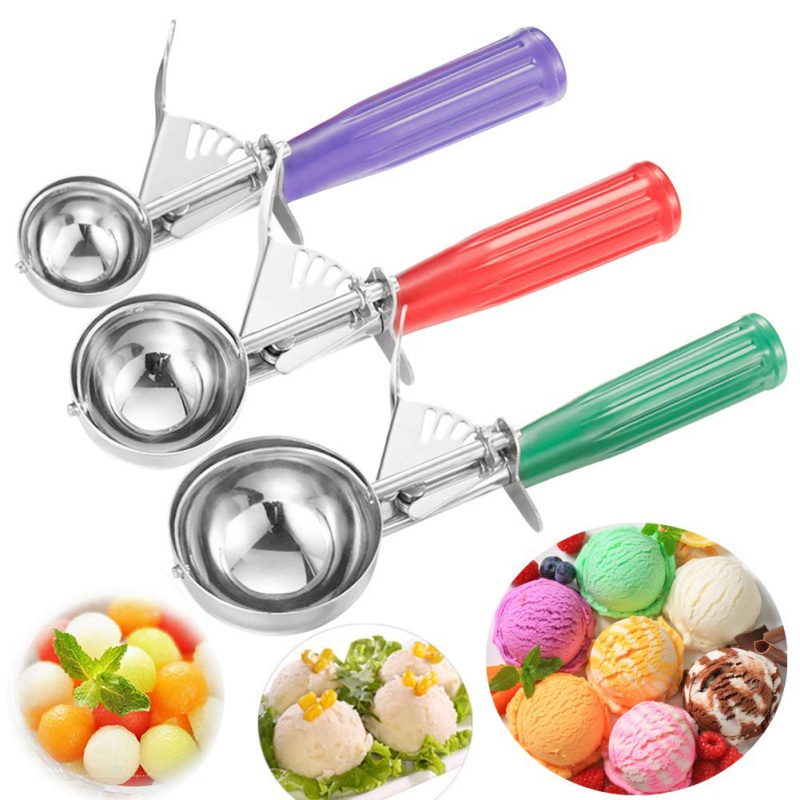 Ball Maker Ice Cream Scoop Ice Cube Frozen Cookie Dough Meat Balls Rice Dishes Ice Cream Spoon Kitchen Tools image
